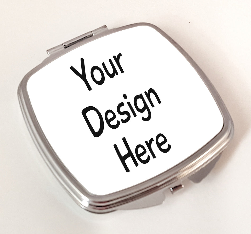 custom personalized compact mirror