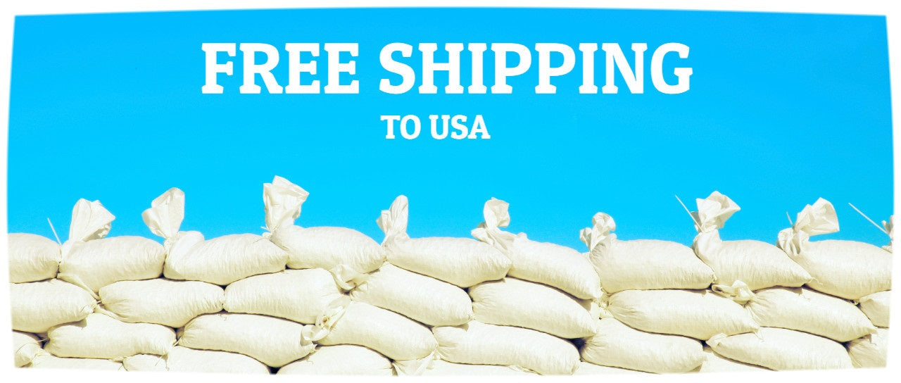 Free Shipping of Sandbags to USA + Canada