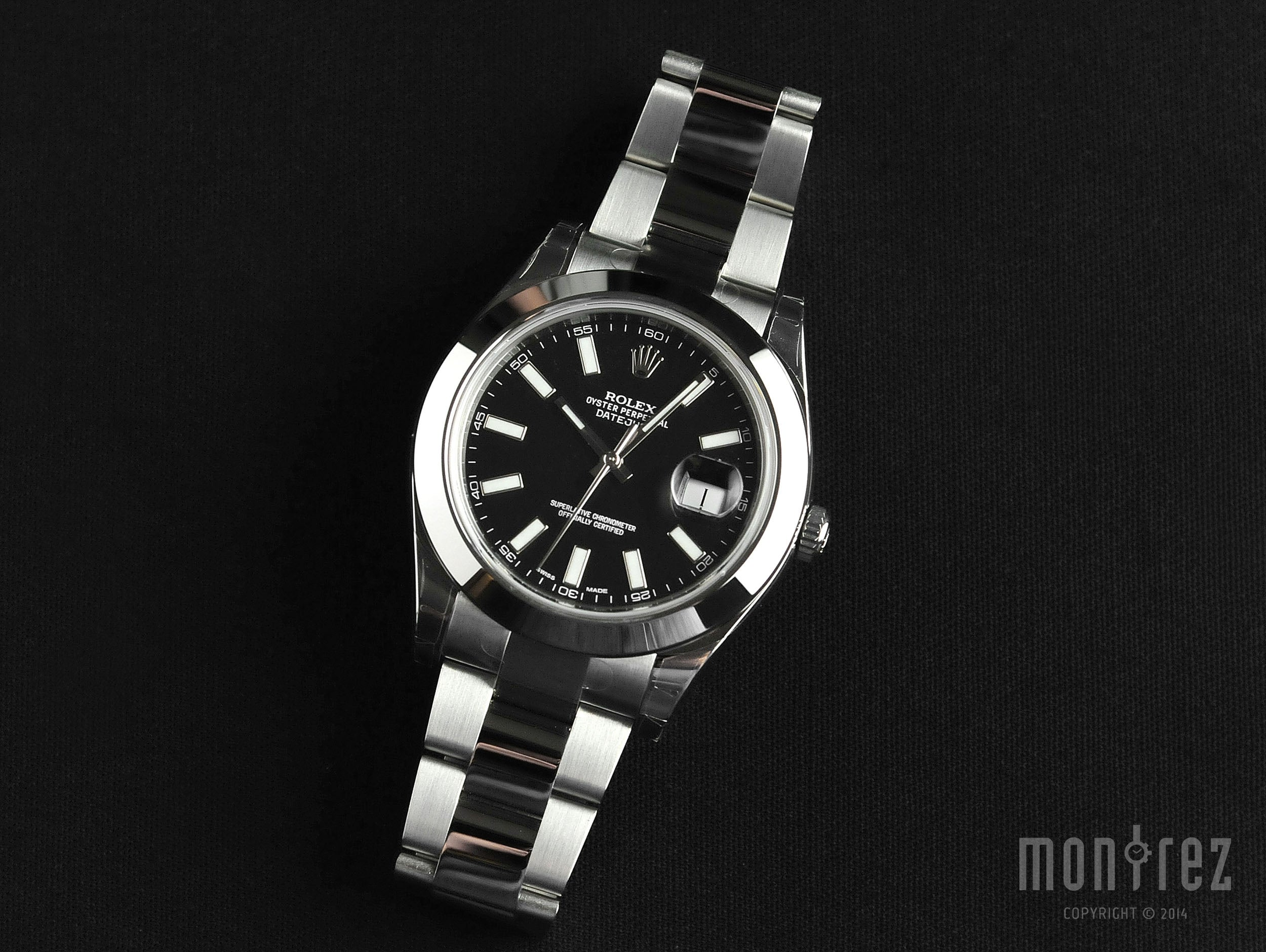 Rolex Datejust II 41mm 116300 Black Index Dial (Out of Production)