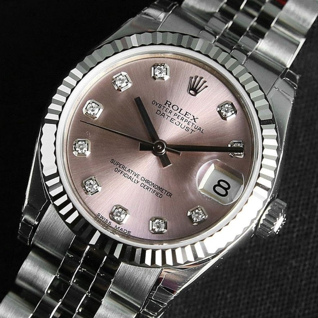 Rolex Datejust 31mm 178274 Pink Dial with Diamonds (Jubilee Bracelet)