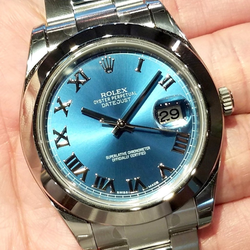 Rolex Datejust II 41mm 116300 Blue Roman Dial (Out of Production)