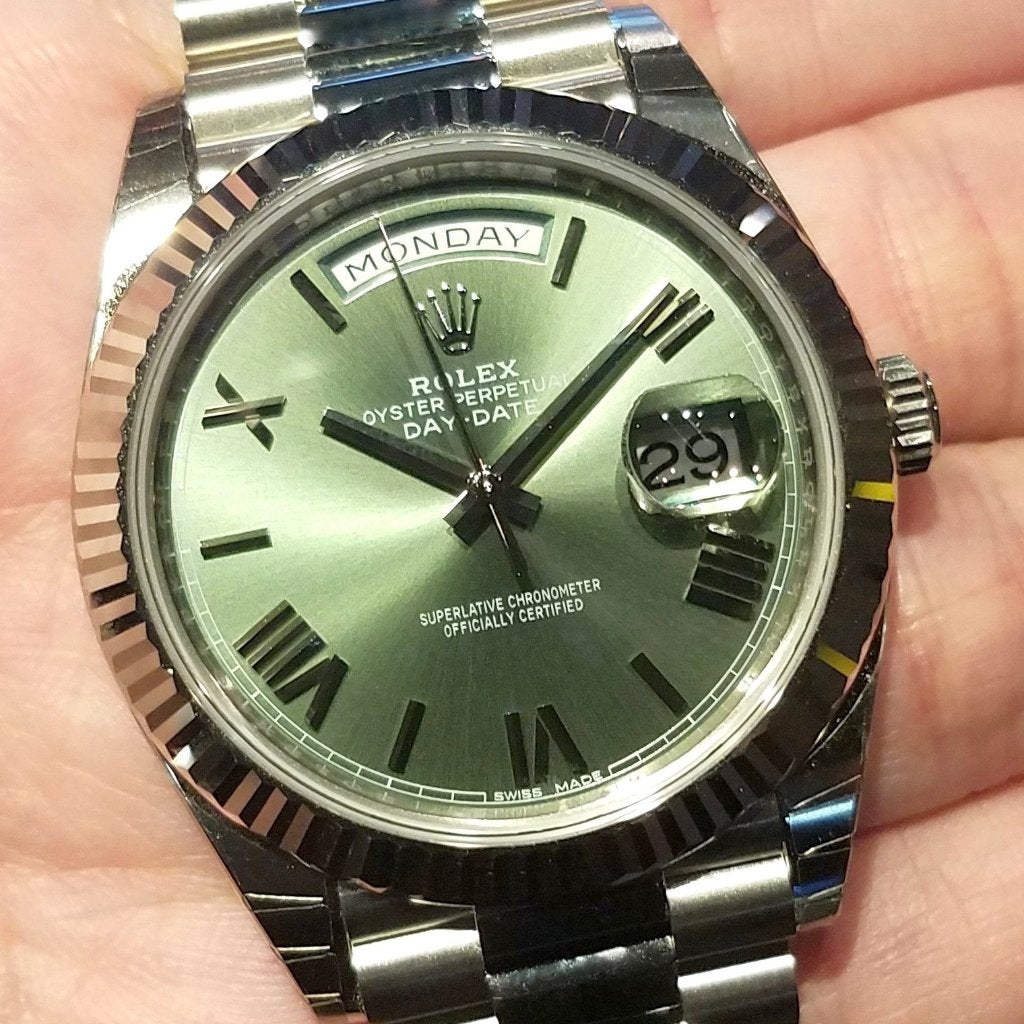 Rolex Day-Date 40mm 228239 Olive Green Dial