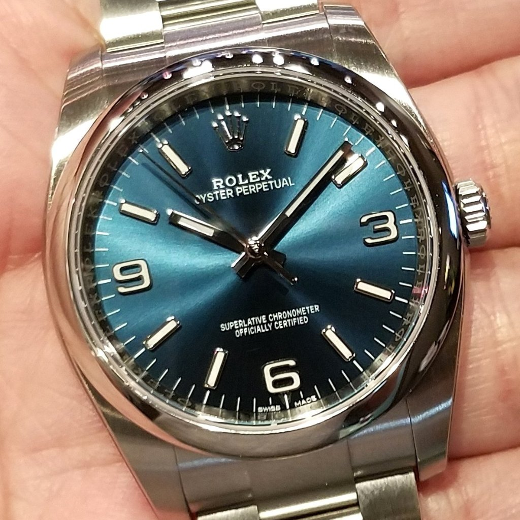 Rolex Oyster Perpetual Ladies 36mm 116000 Blue Dial 369