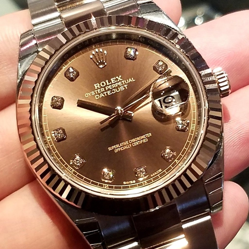 Rolex Datejust 41mm 126331 Chocolate Dial with Diamonds (Oyster Bracelet)
