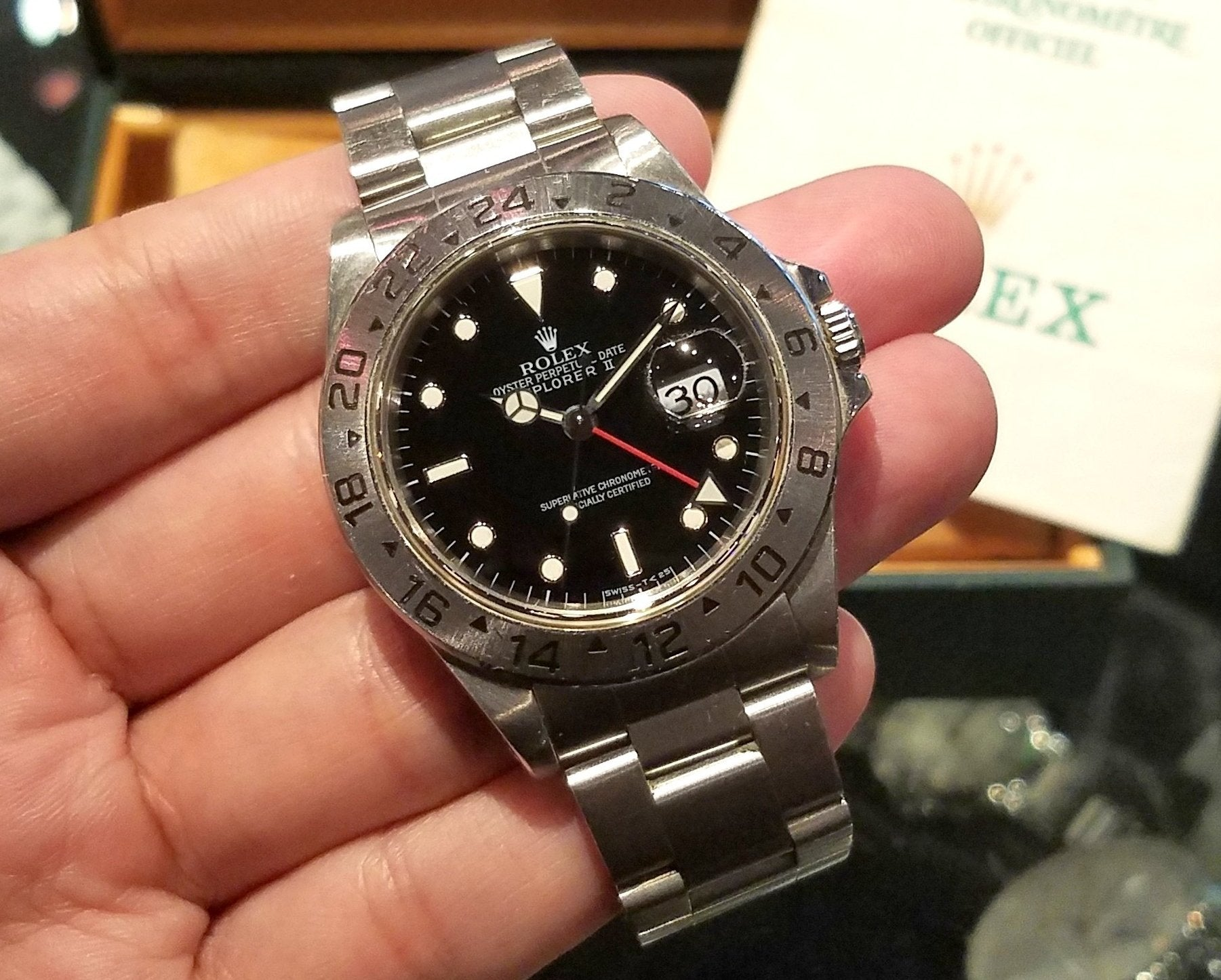 Rolex Explorer II 40mm 16570 Black Dial (Out of Production)