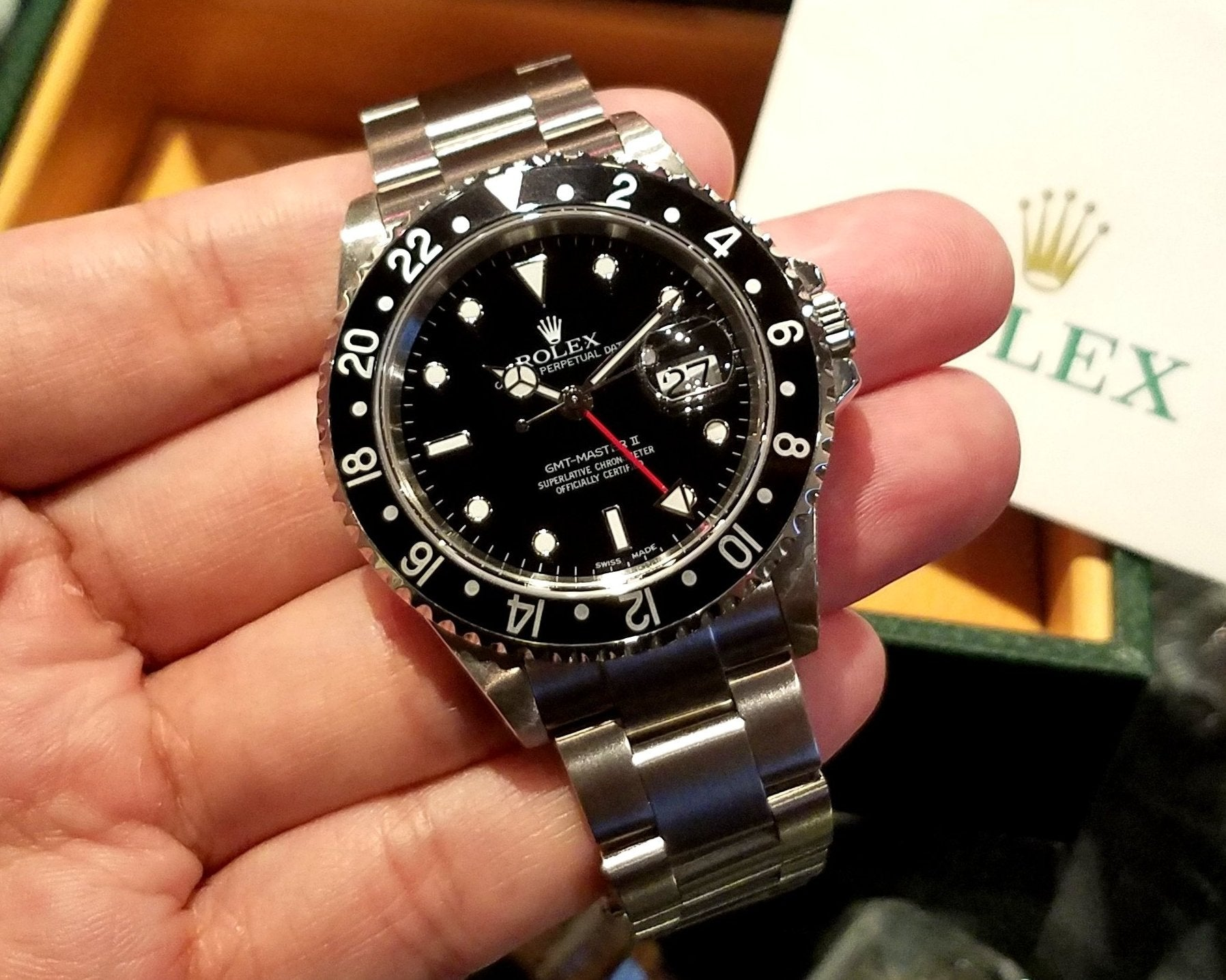 Rolex GMT-Master II 40mm 16710 Black Bezel (Out of Production)