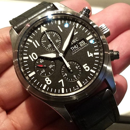 IWC Classic Pilot's Chronograph Watch 42mm IW371701
