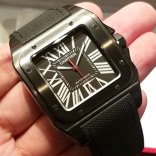 [Brand New Watch] Cartier Santos 100 Carbon 41mm WSSA0006