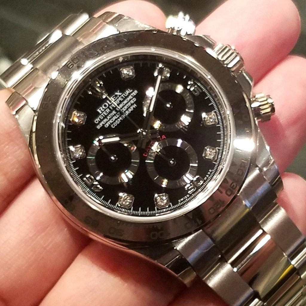Rolex Cosmograph Daytona 40mm 116509 Black Dial with Diamonds
