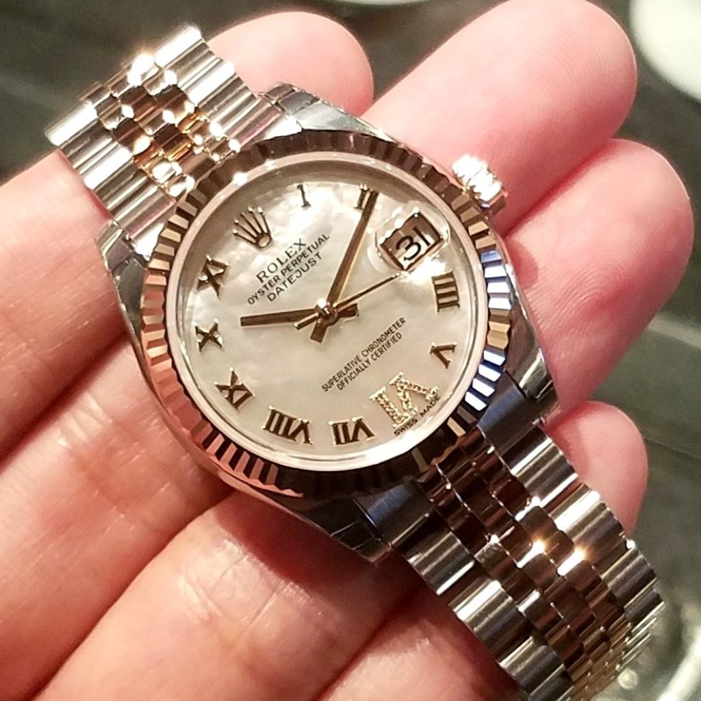 Rolex Datejust 31mm 178271 White Mother-of-Pearl Dial with VI Diamonds (Jubilee Bracelet)