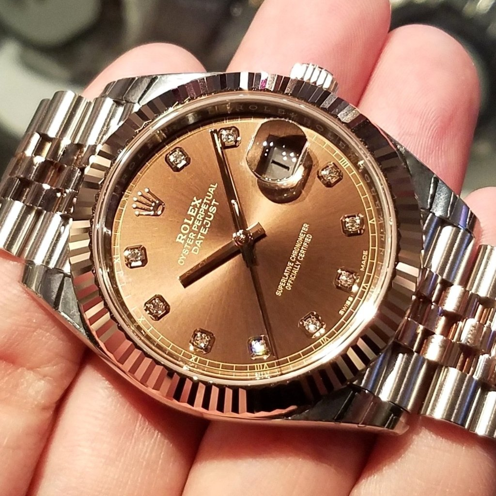 Rolex Datejust 41mm 126331 Chocolate Dial with Diamonds (Jubilee Bracelet)