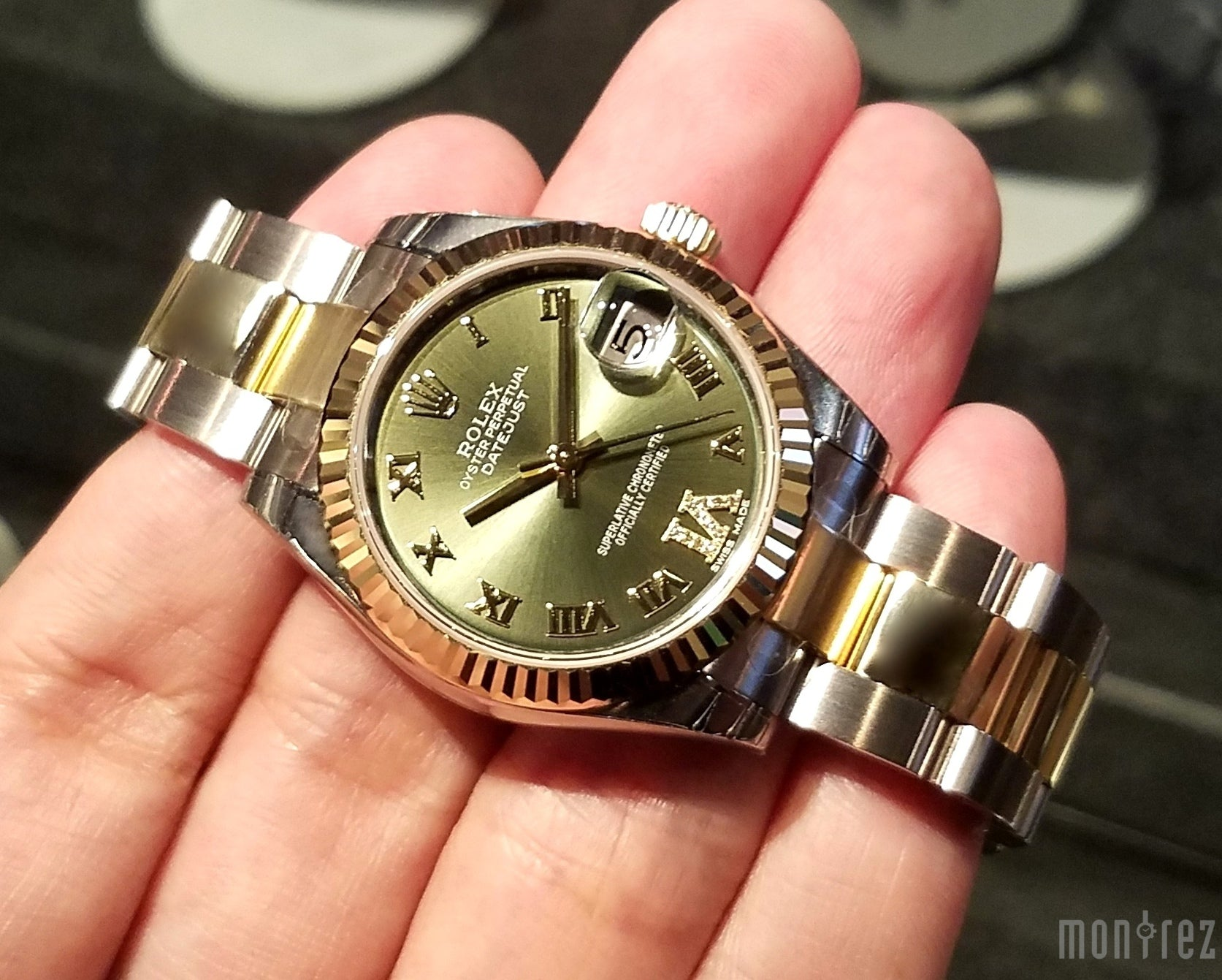 Rolex Datejust 31mm 178273 Green Roman Dial with VI Diamonds (Oyster Bracelet)