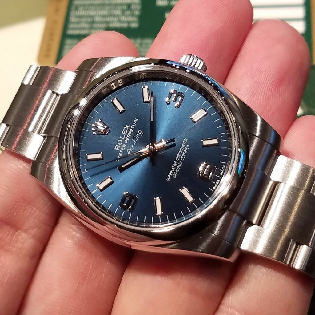 Rolex Oyster Perpetual 34mm 114200 Blue Dial