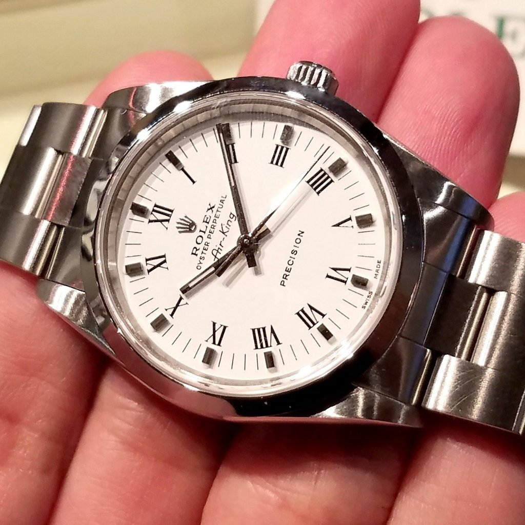 Rolex Air-King Precision 34mm 14000M White Dial (Out of Production) (888)