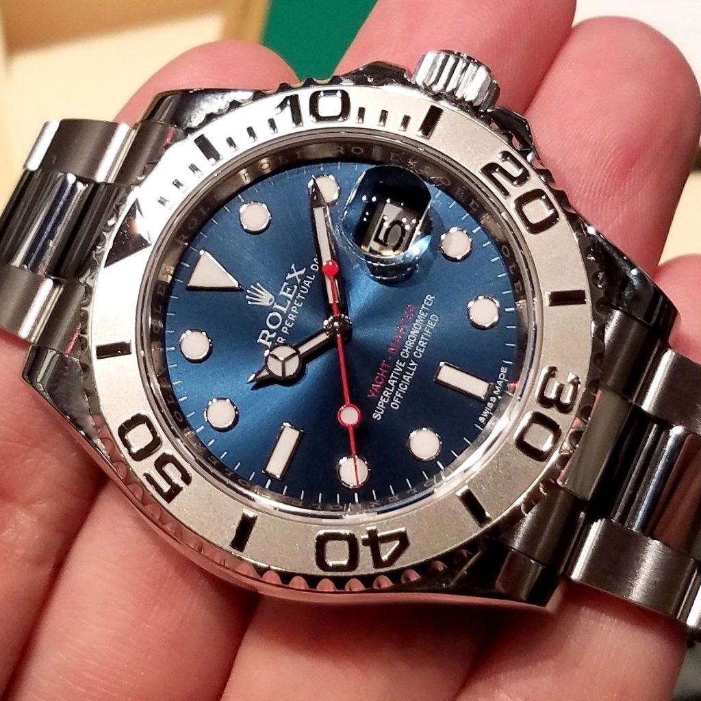 Rolex Yacht Master 40mm 116622 Sunray Blue Dial