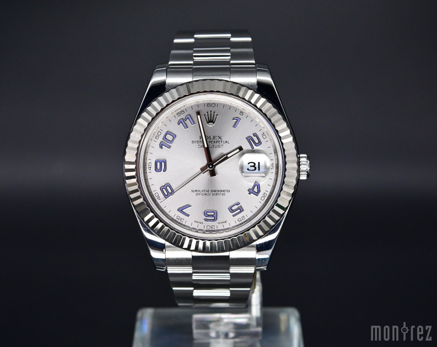 [Pre-Owned Watch] Rolex Datejust 41mm 116334 Rhodium Arabic Blue Dial (888) (Out of Production)