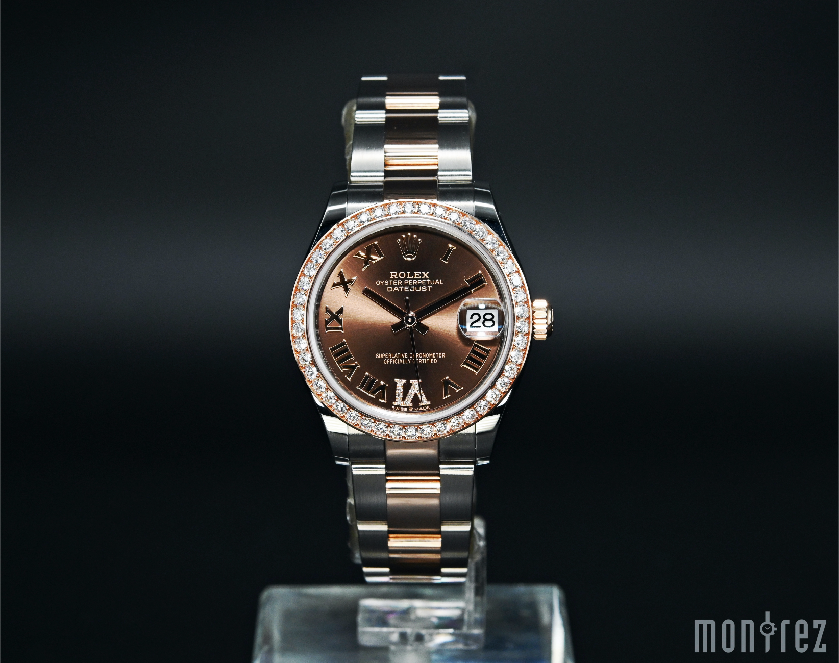 [Brand New Watch] Rolex Datejust 31mm 278381RBR Chocolate Dial with VI Diamonds (Oyster Bracelet)