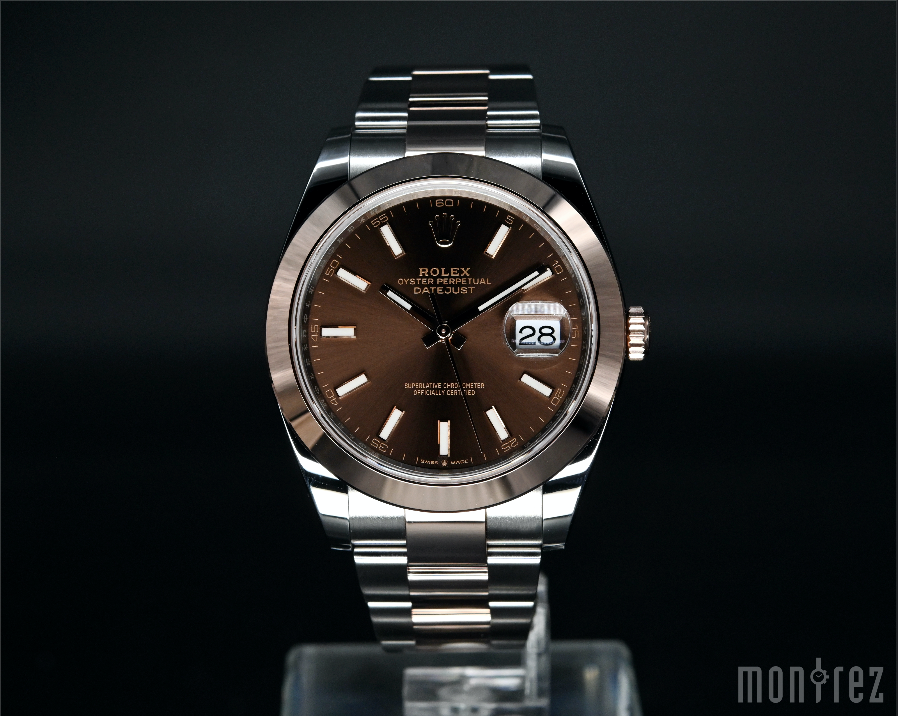 [Brand New Watch] Rolex Datejust 41mm 126301 Chocolate Index Dial (Oyster Bracelet)