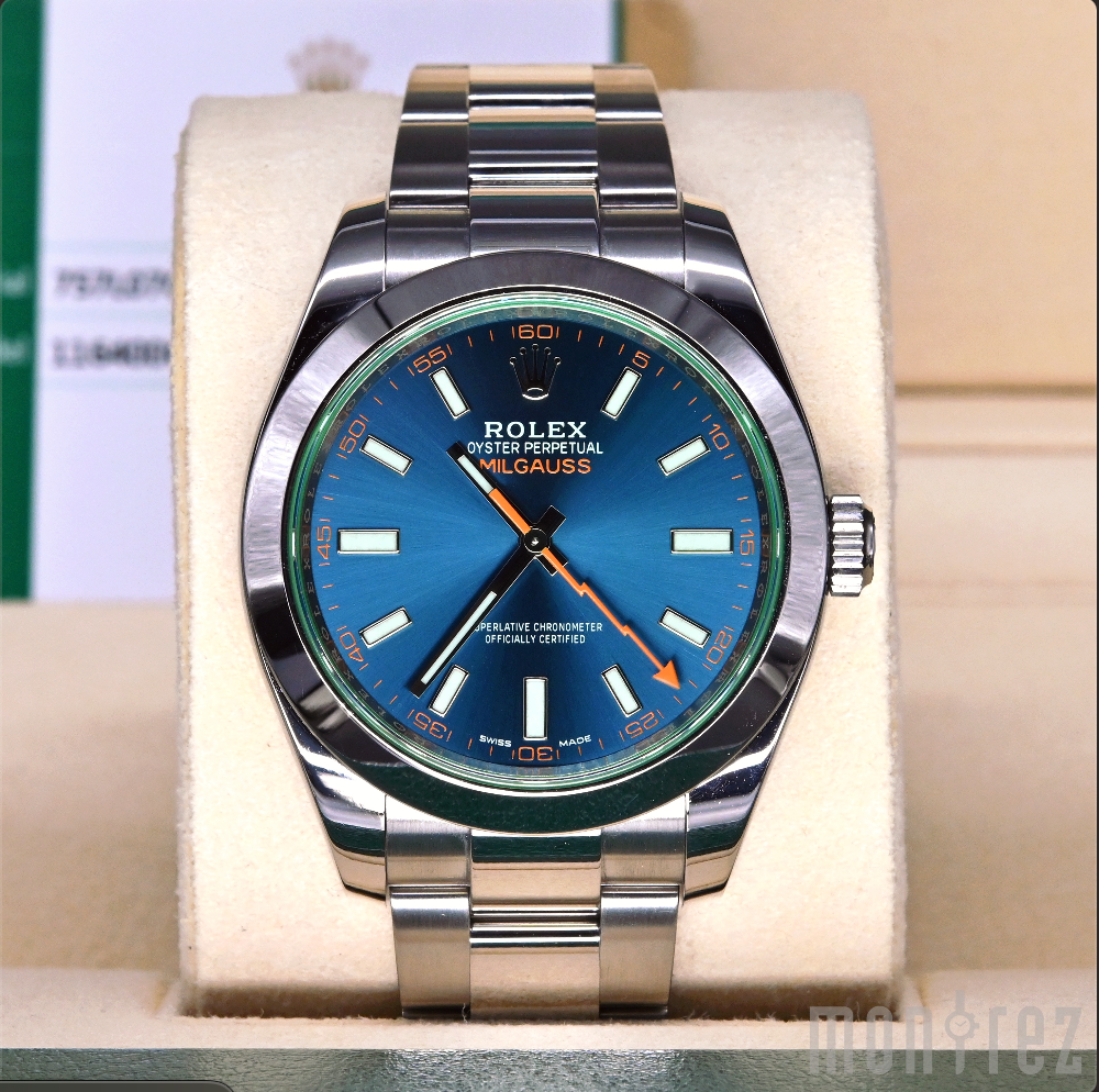 [Pre-Owned Watch] Rolex Milgauss 40mm 116400GV Blue Dial (888)