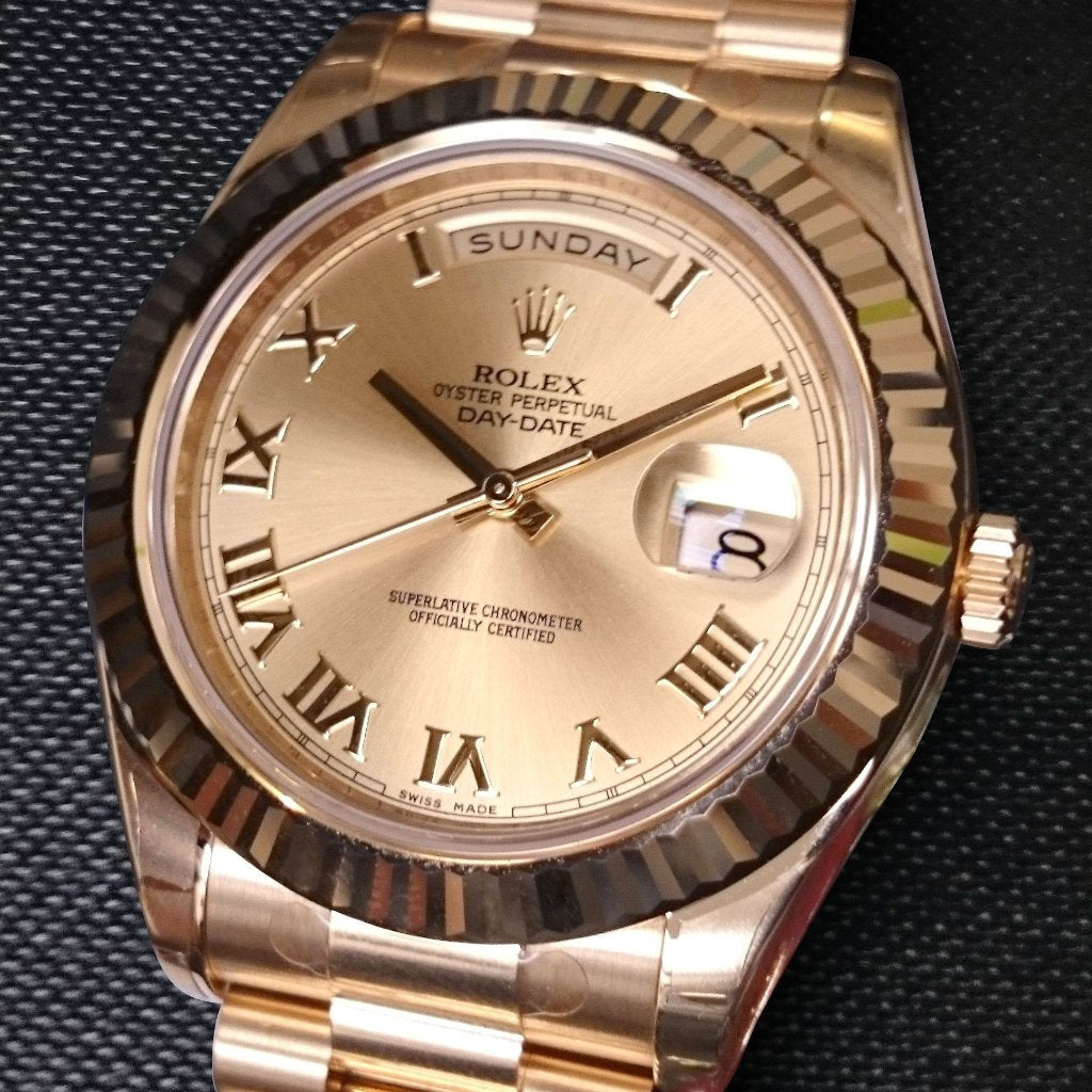 Rolex Date-Date II 41mm 218238 Champagne Dial (Out of Production)