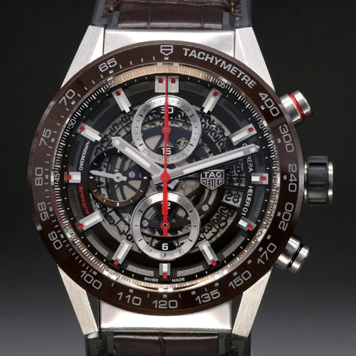 [Brand New Watch] Tag Heuer Carrera Calibre Heuer 01 Automatic Chronograph Watch 100m 43mm CAR201U.FC6405