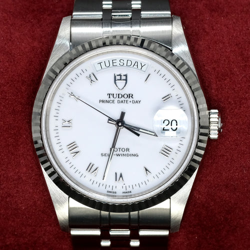 [Pre-Owned Watch] Tudor Prince Date Day Rotor 36mm 76214 White Roman Dial (888)
