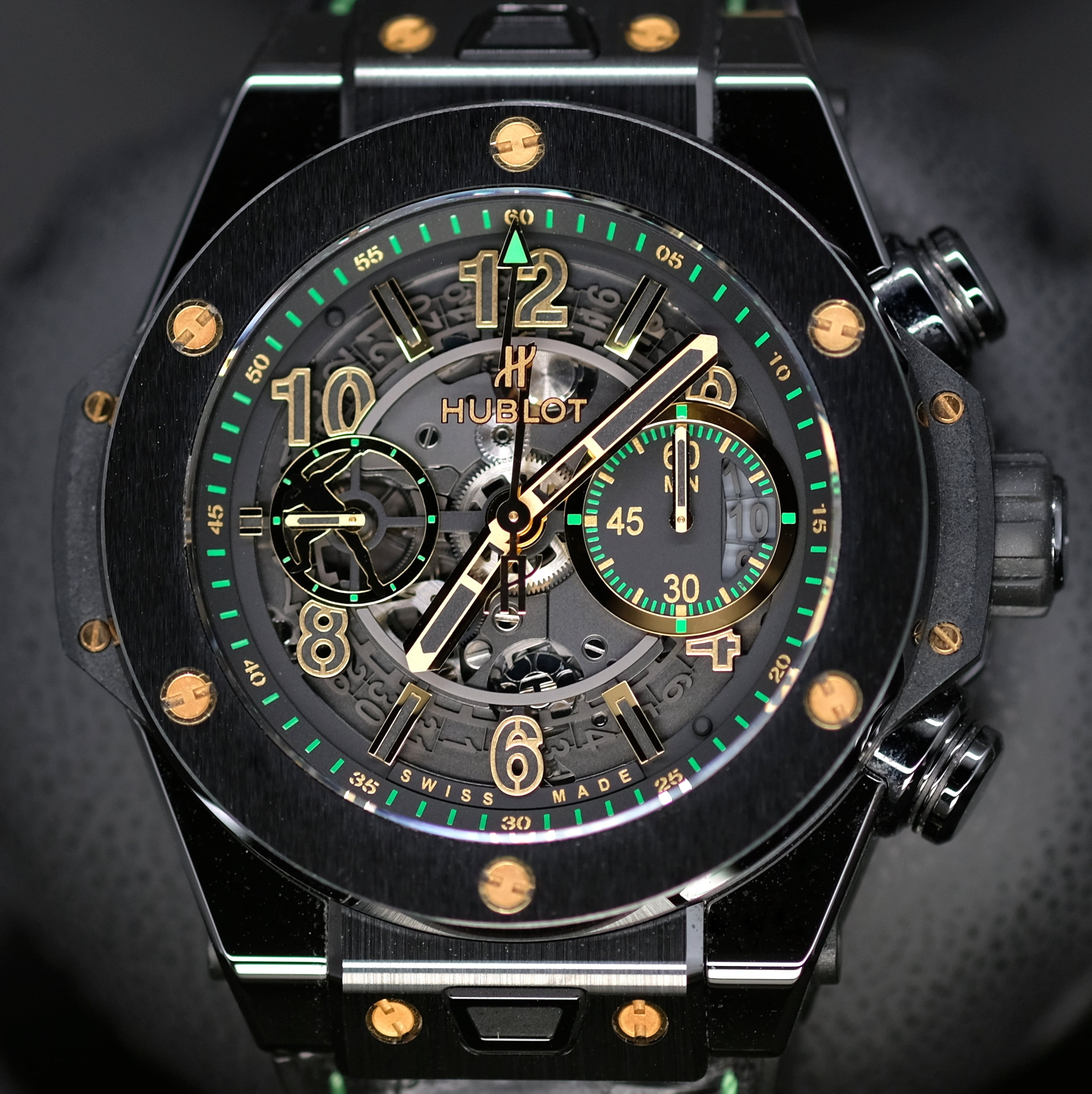 [Pre-Owned Watch] Hublot Big Bang Unico Ceramic Usain Bolt Limited Edition Watch 45mm 411.CX.1189.VR.USB16 (Limited Edition of 250 Pieces)