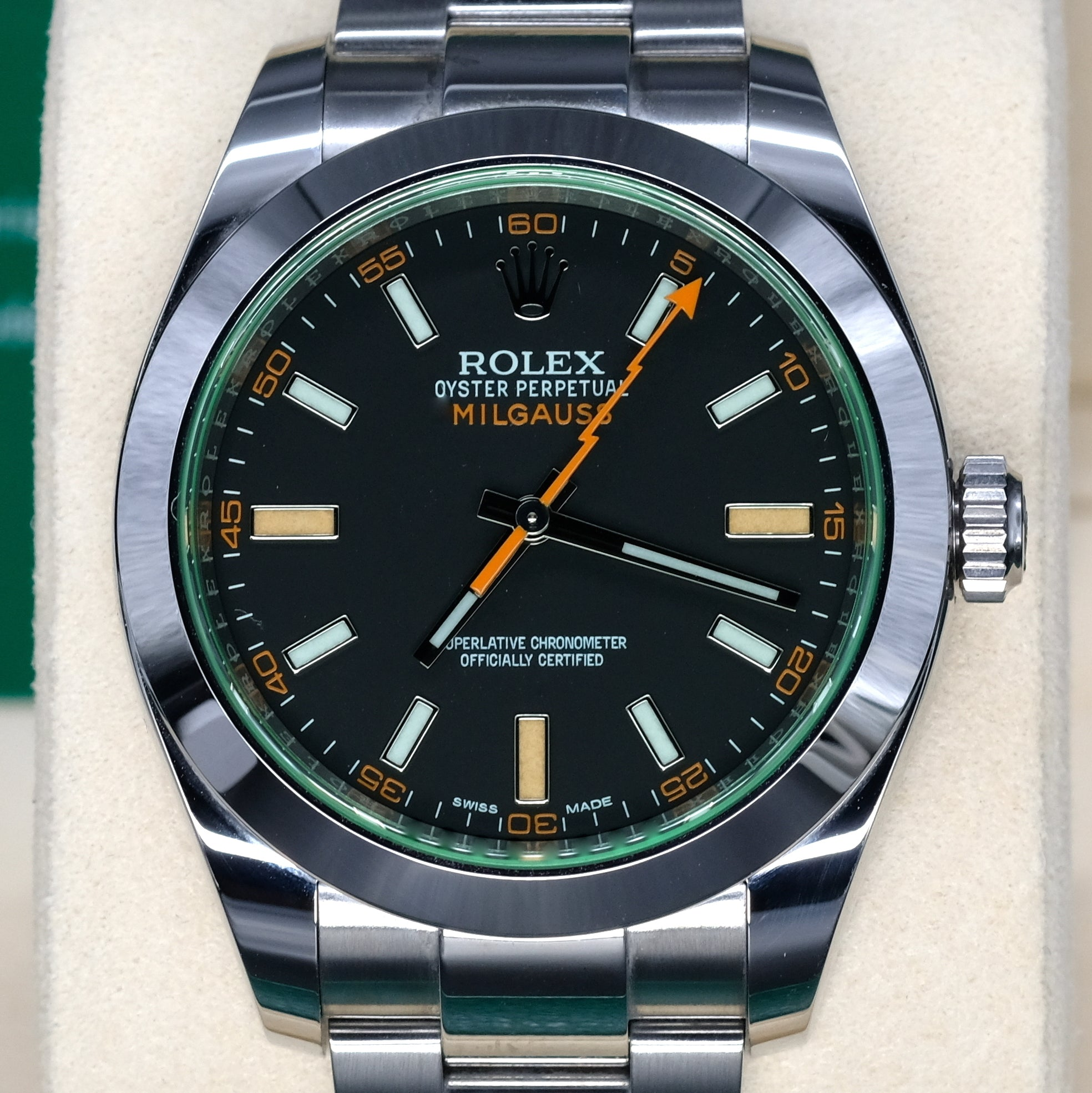 [Pre-Owned Watch] Rolex Milgauss 40mm 116400GV Black Dial (888)