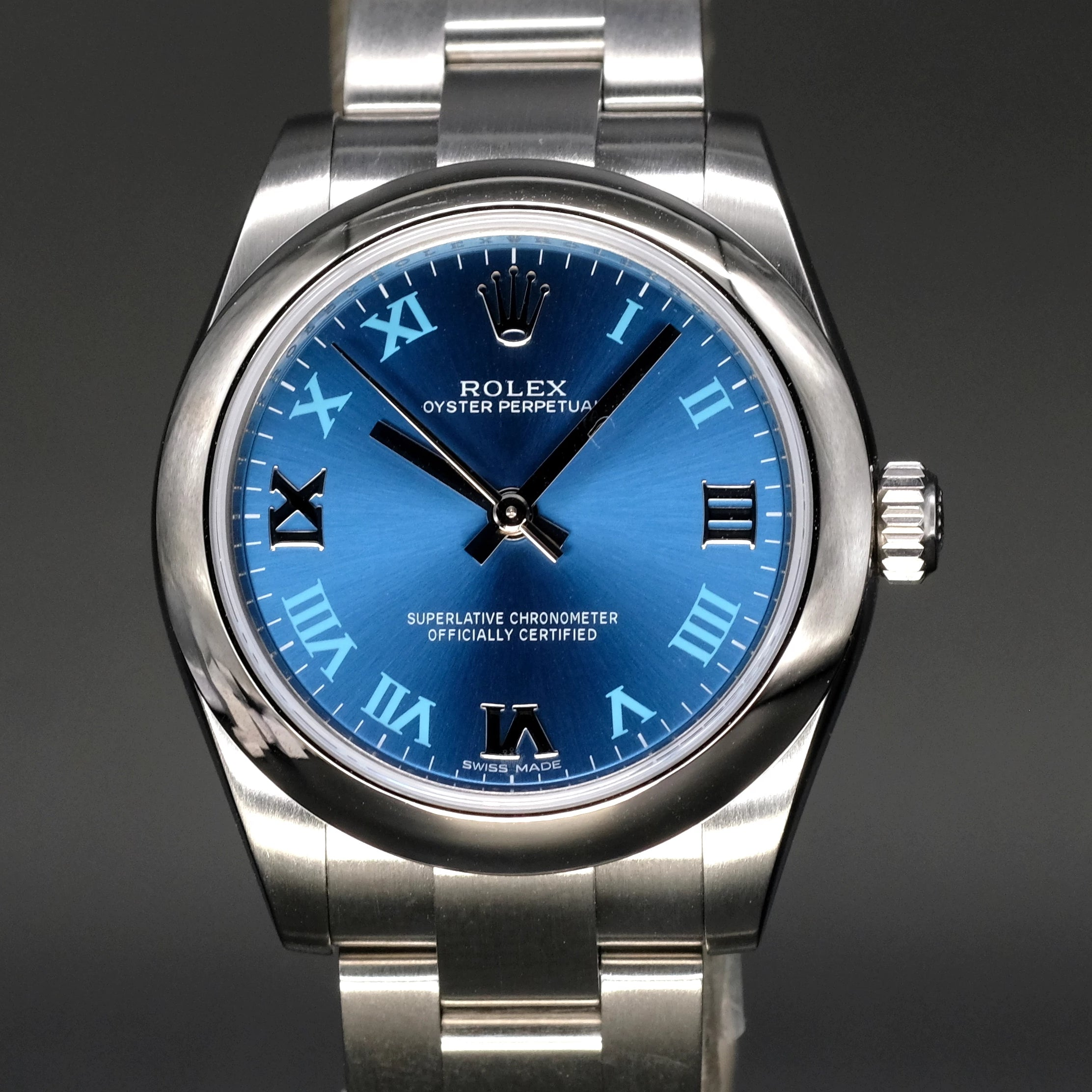 [Brand New Watch] Rolex Oyster Perpetual 31mm 177200 Blue Roman Dial