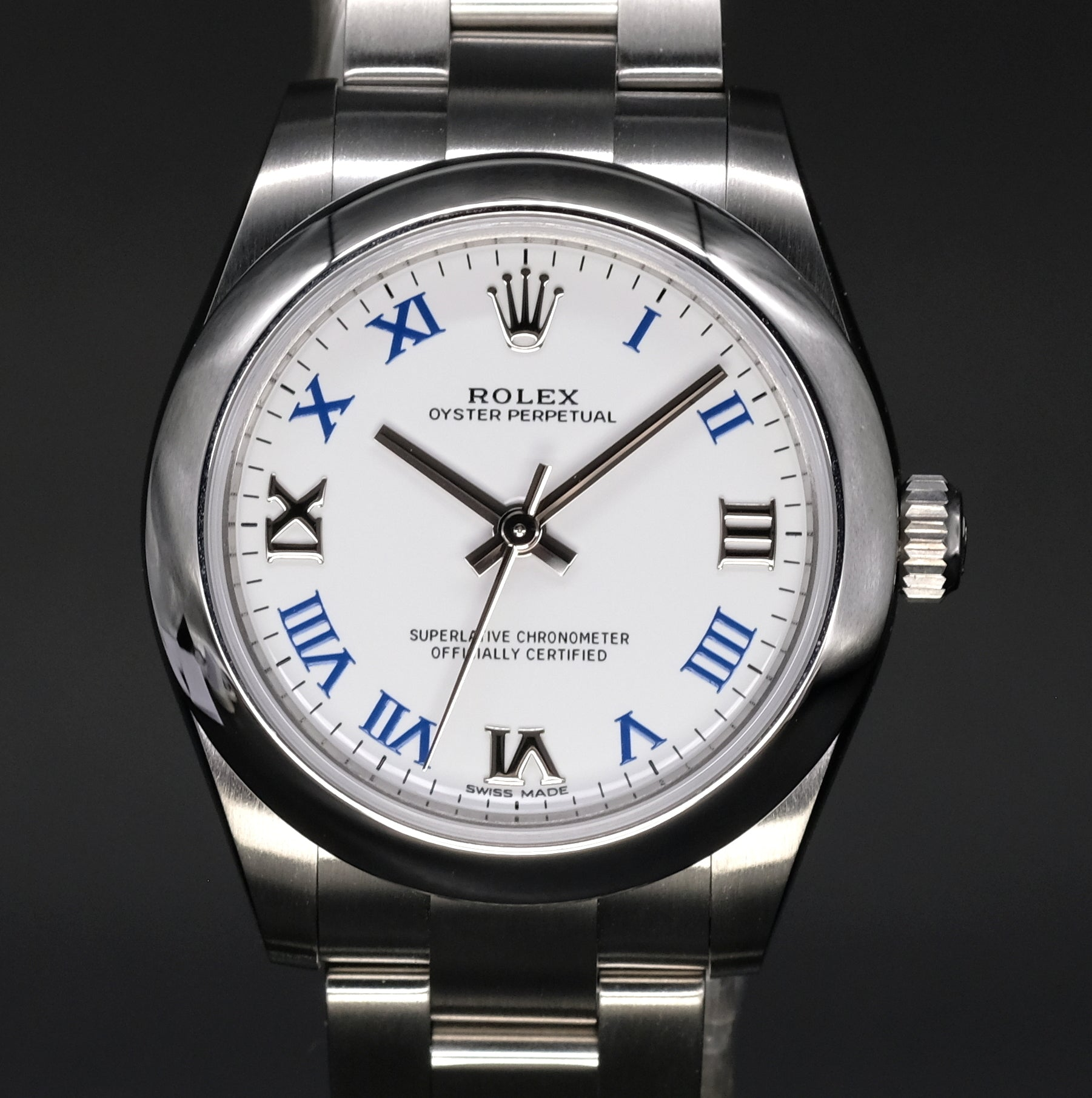 [Brand New Watch] Rolex Oyster Perpetual 31mm 177200 White Roman Dial