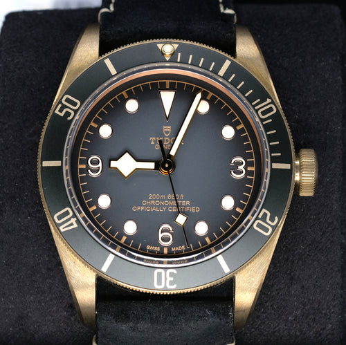 [Pre-Owned Watch] Tudor Heritage Black Bay Bronze 43mm 79250BA (Leather Strap) (888)