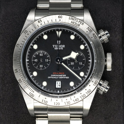 [Pre-Owned Watch] Tudor Heritage Black Bay Chrono 41mm 79350 (Steel Bracelet)