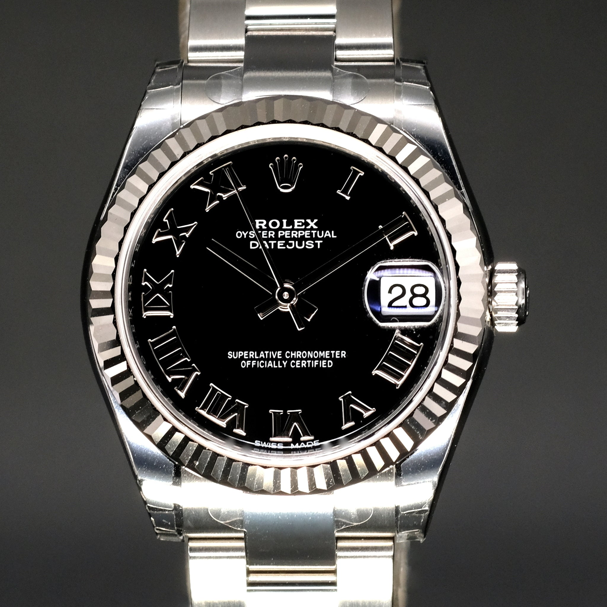 [Brand New Watch] Rolex Datejust 31mm 178274 Black Roman Dial (Oyster Bracelet)