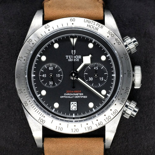 [Pre-Owned Watch] Tudor Heritage Black Bay Chrono 41mm 79350 (Leather Strap) (888)