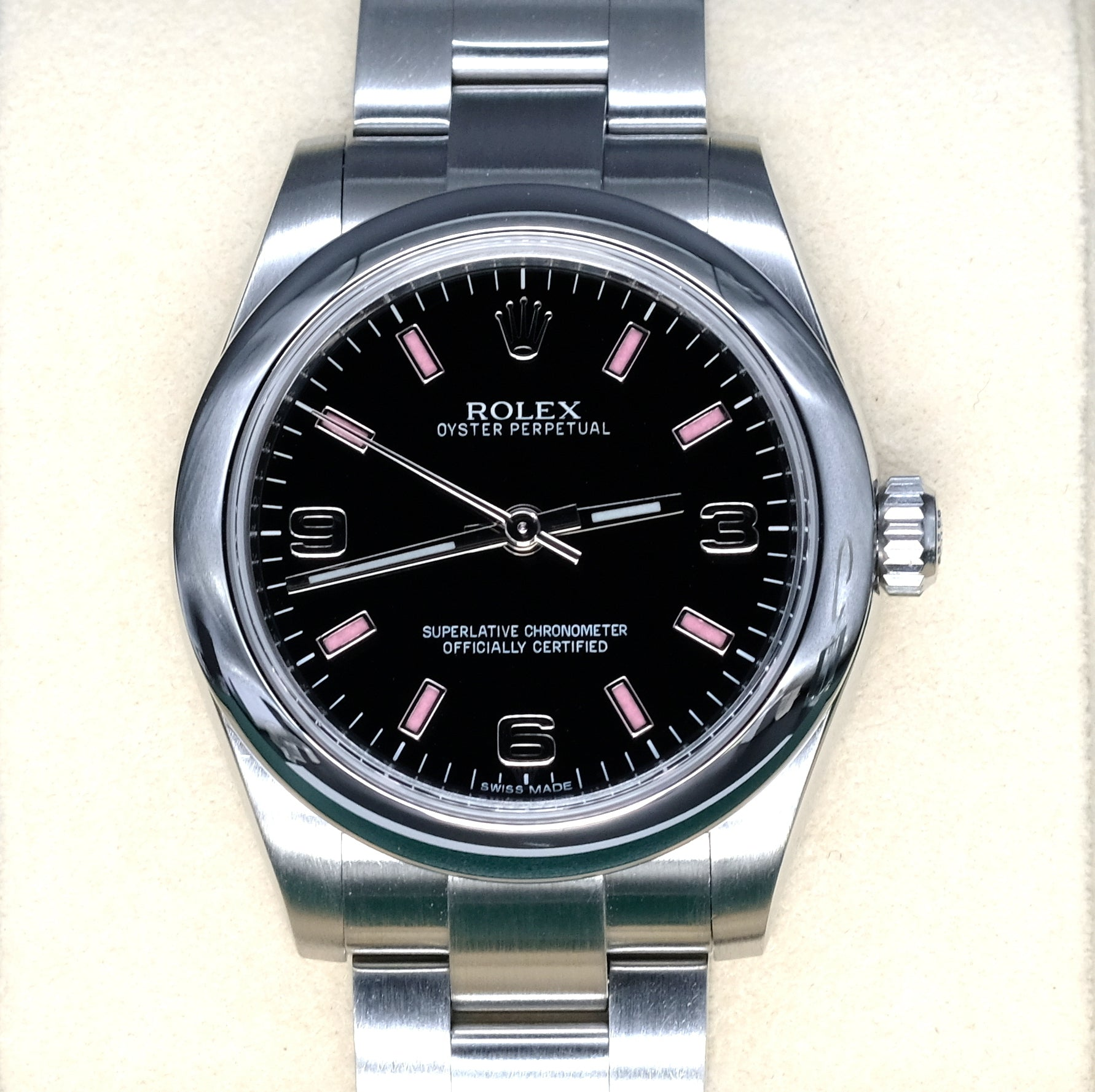 [Pre-Owned Watch] Rolex Oyster Perpetual 31mm 177200 Black Dial Pink Arabic (Out of Production)