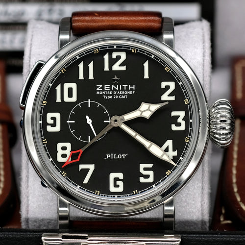 [Pre-Owned Watch] Zenith Pilot Montre d'Aeronef Type 20 GMT 48mm 03.2430.693/21.C723