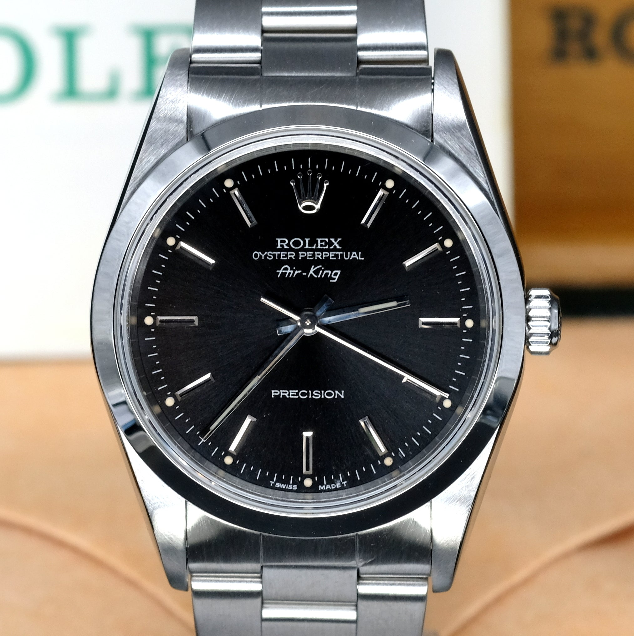 [Pre,Owned Watch] Rolex Air,King Precision 34mm 14000 Black Dial (Out of  Production) (400 Hong Kong Authorized Dealer Stock)