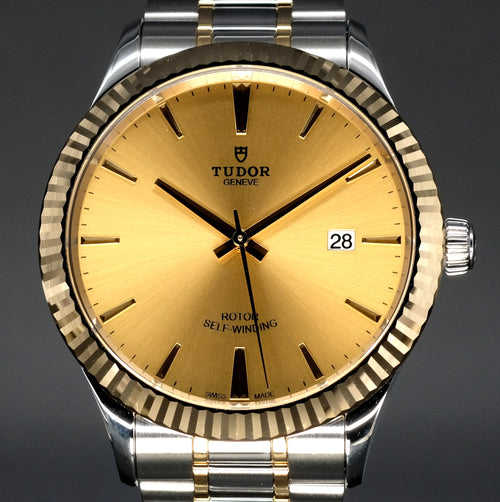 [Brand New Watch] Tudor Style 41mm 12713 Champagne Index Dial (Bracelet)