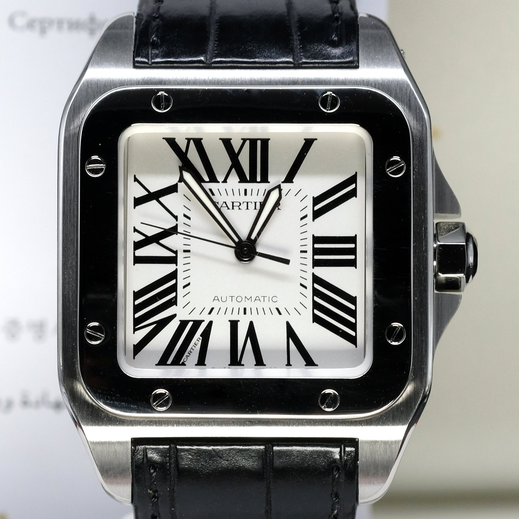 6fd59675d843e [Pre-Owned Watch] Cartier Santos 100 Watch Large Model 41mm W20073X8 (Out  of Production)