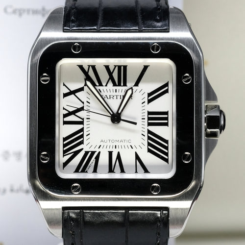 [Pre-Owned Watch] Cartier Santos 100 Watch Large Model 41mm W20073X8 (Out of Production)
