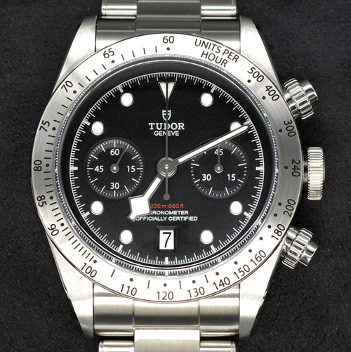 [Pre-Owned Watch] Tudor Heritage Black Bay Chrono 41mm 79350 (Steel Bracelet) (888)