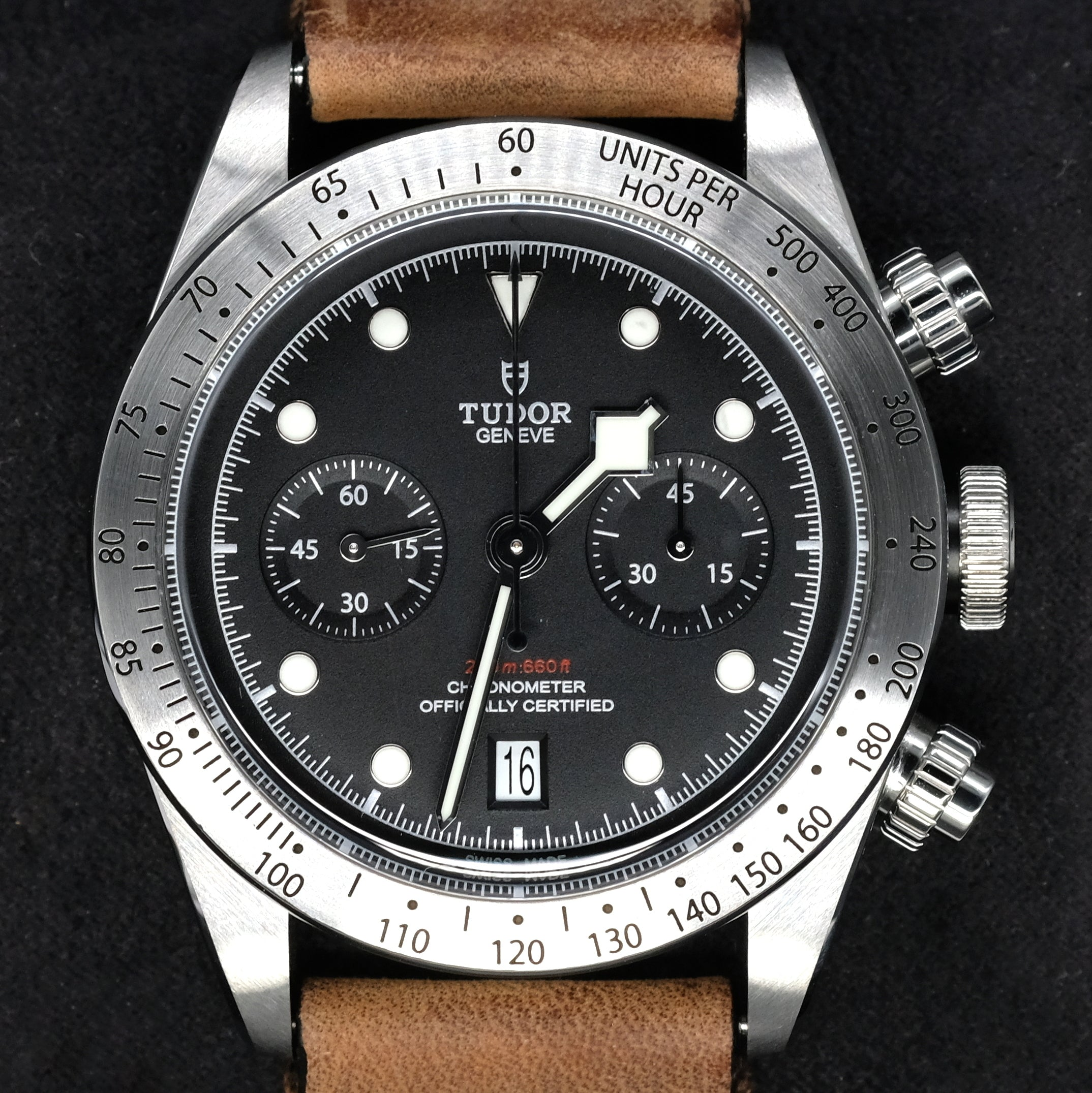 [Pre-Owned Watch] Tudor Heritage Black Bay Chrono 41mm 79350 (Leather Strap)