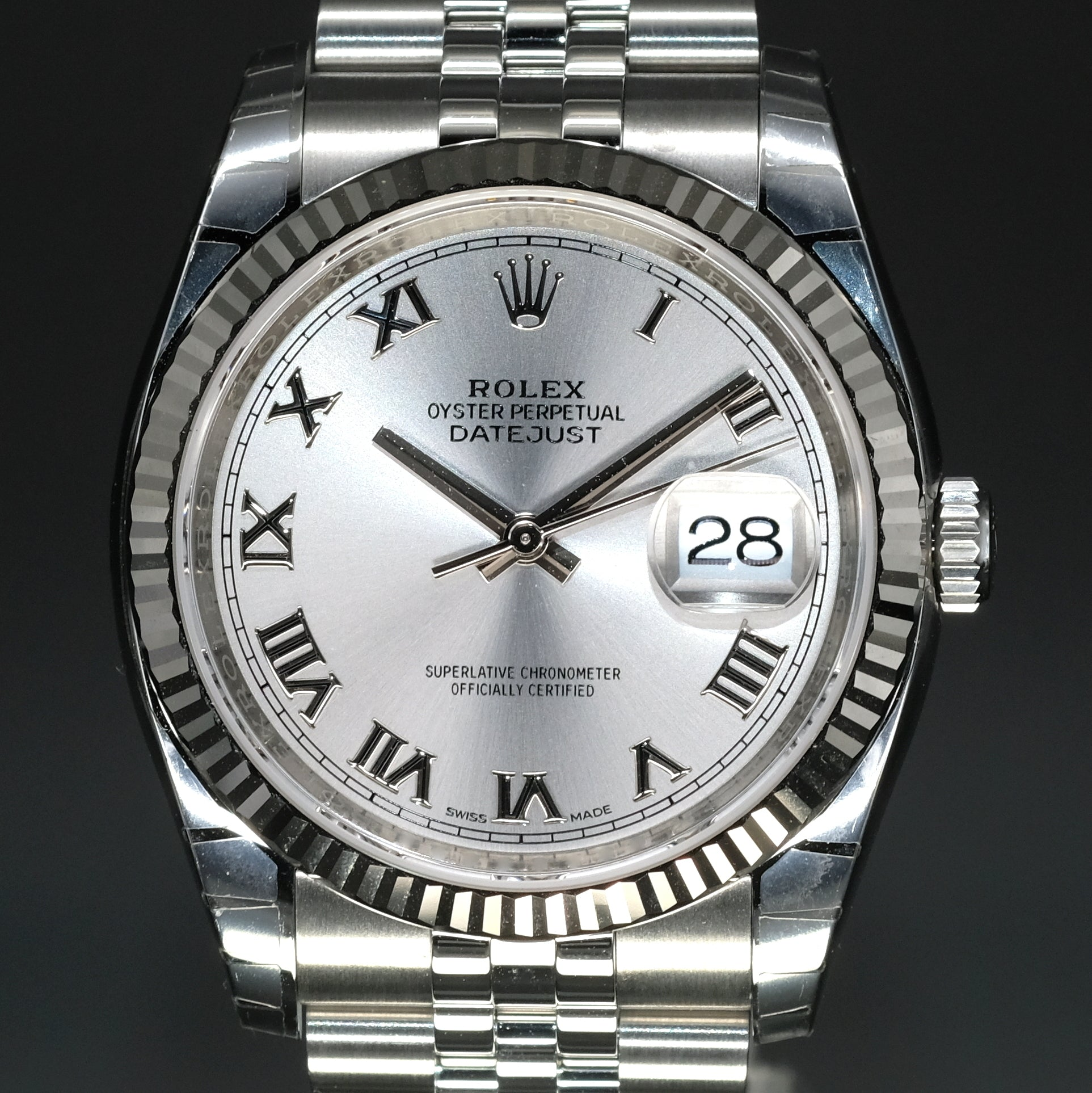 [Brand New Watch] Rolex Datejust 36mm 116234 Rhodium Roman Dial (Jubilee Bracelet)