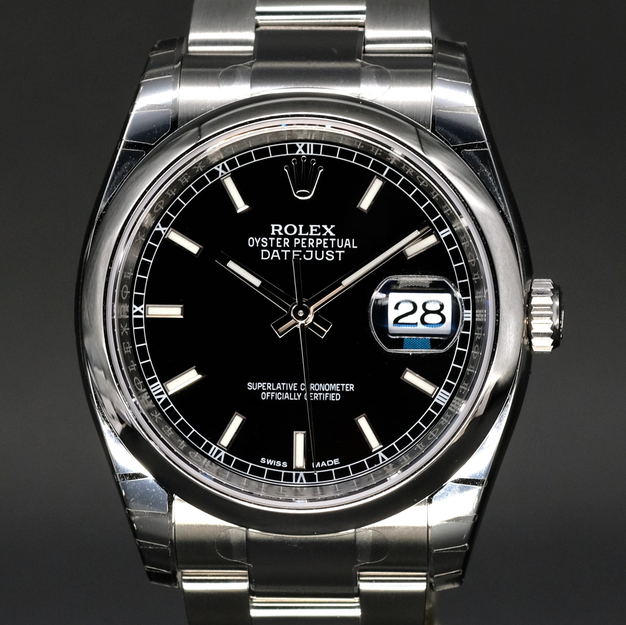 [Brand New Watch] Rolex Datejust 36mm 116200 Black Index Dial (Oyster Bracelet)