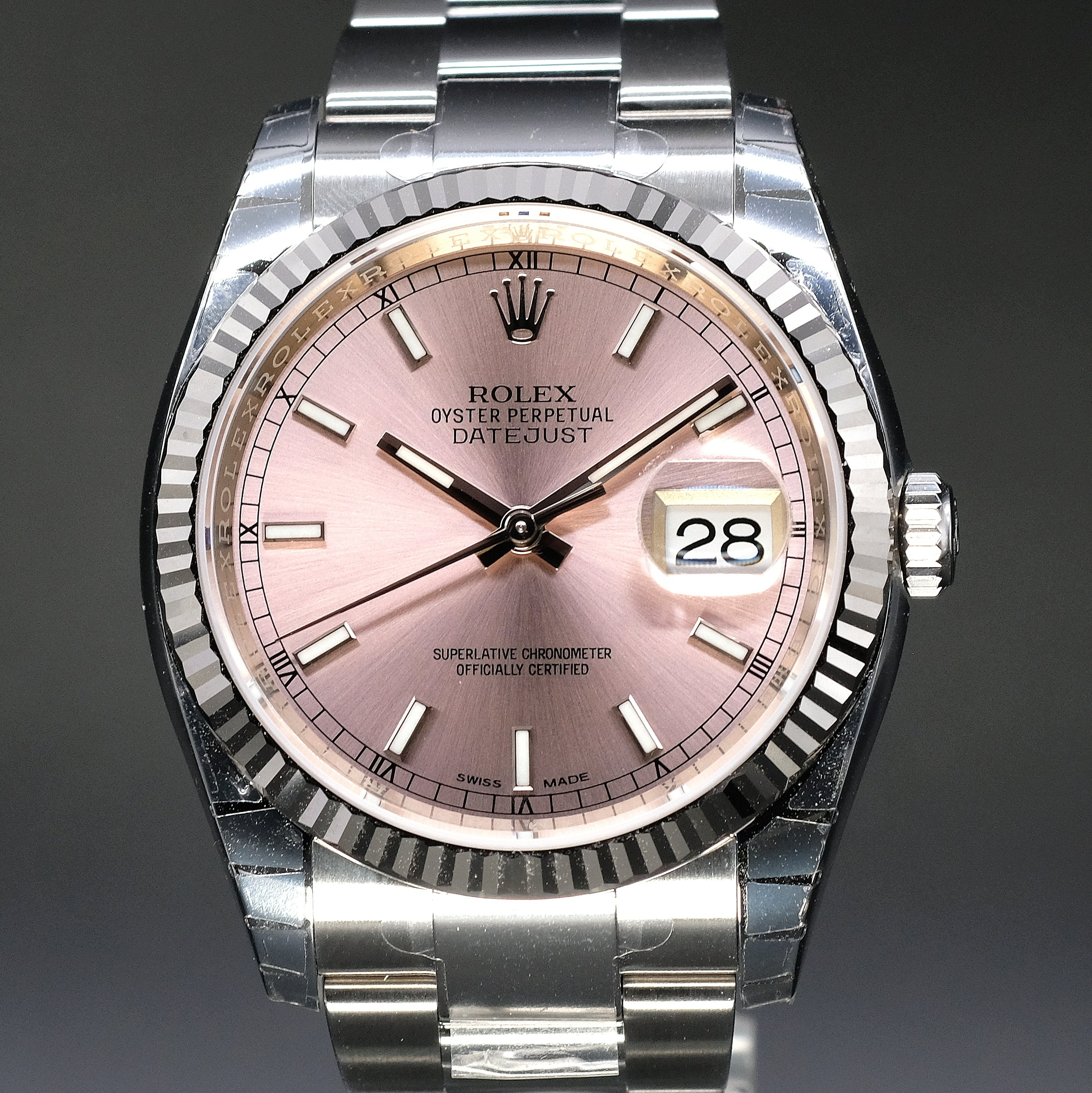 [Brand New Watch] Rolex Datejust 36mm 116234 Pink Index Dial (Oyster Bracelet)
