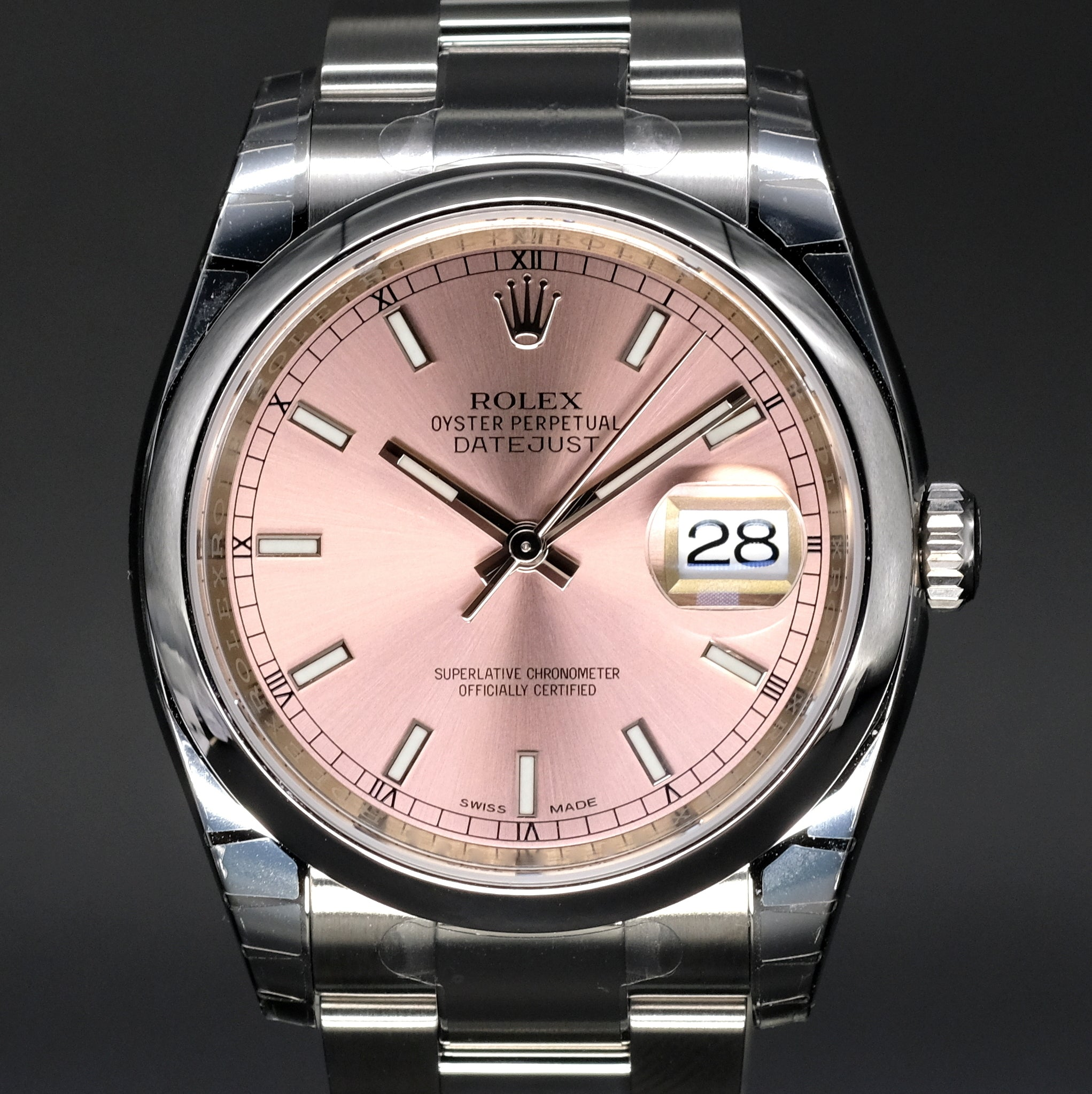 [Brand New Watch] Rolex Datejust 36mm 116200 Pink Index Dial (Oyster Bracelet)