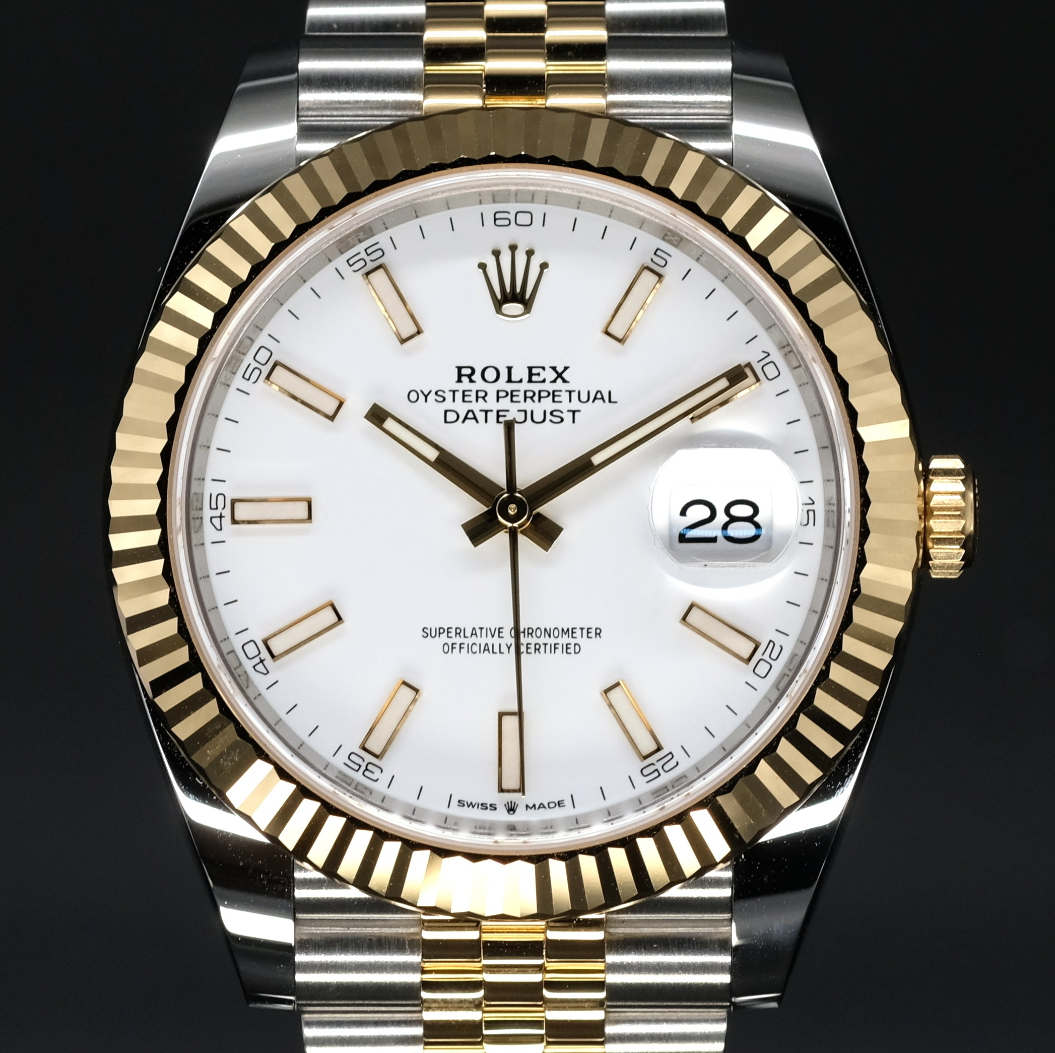 [Brand New Watch] Rolex Datejust 41mm 126333 White Index Dial (Jubilee Bracelet)