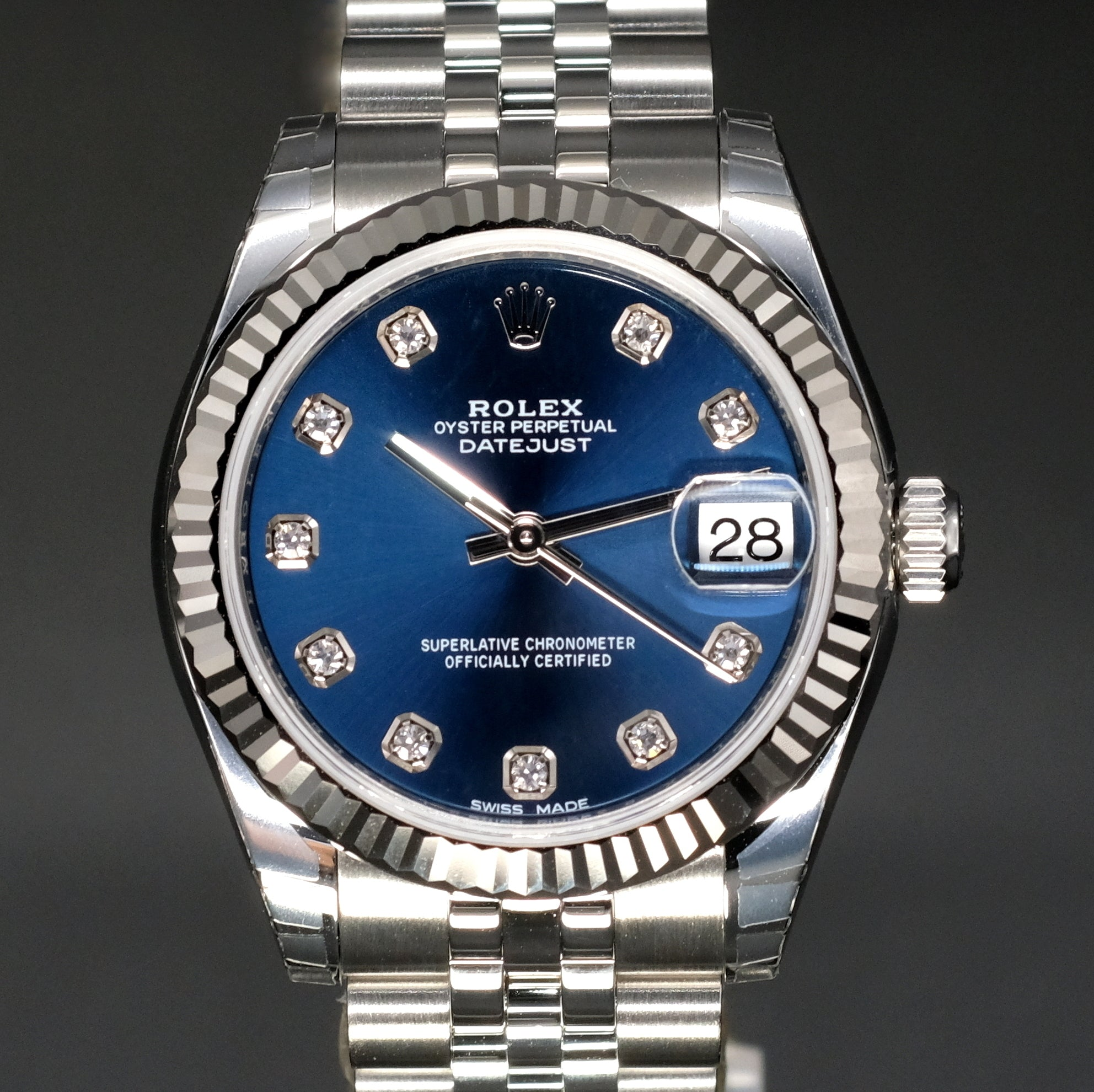 [Brand New Watch] Rolex Datejust 31mm 178274 Blue Dial with Diamonds (Jubilee Bracelet)