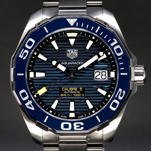 [Brand New Watch] Tag Heuer Aquaracer Calibre 5 Automatic Watch 300m 43mm WAY201B.BA0927