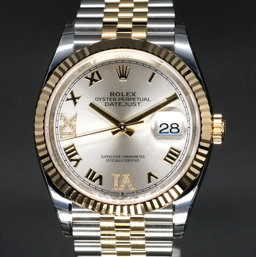 [Brand New Watch] Rolex Datejust 36mm 126233 Silver Dial with VI & IX Diamonds (Jubilee Bracelet)